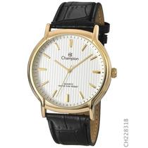 Relógio Masculino Dourado Champion Ch22831b 1 Ano Garantia