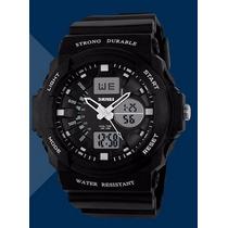 Relógio Grande Esportivo Digital Analógico Skmei Black