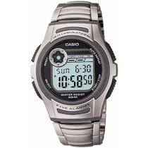 Relógio Casio Masculino 5 Alarmes Bateria 10 Anos W-213d-1av