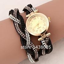 Relógio Feminino Luxo Pulseira Com Strass Lindo E Elegante