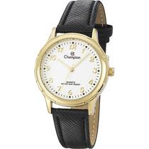 Relógio Champion Clássico Pulseira De Couro Cn28062b