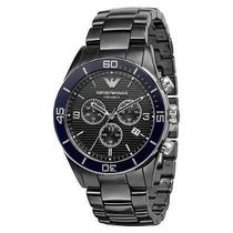 Relógio Emporio Armani Ar1429 Cerâmica Preto Frete Grátis