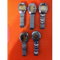Relógios Orient Automáticos Fundo Dourado E Marrom. Unidade