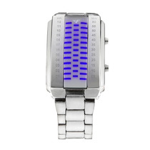 Relógio De Pulso Digital Masculino C Luz De Led Azul