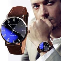 Relógio Masculino Faux Da Marca New Brown De Luxo Quartzo