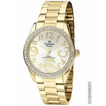 Relógio Champion Dourado Feminino Passion Ch24482h Original