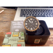 Relógio Novo Fossil Masculino Couro Jr1357