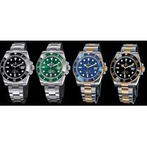 Relógio Submariner Dourado Azul Perpetual Date 12x Sem Juros