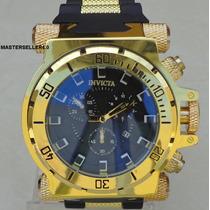 Relógio Luxo Mod. Invicta Coalition Forces Ouro Ostentação