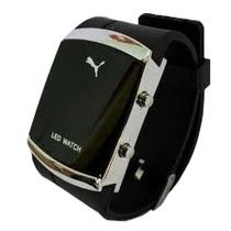 Relógio Led Puma Unissex Sport Black Frete Gratis