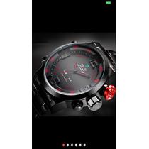 Relógio Marca Weide De Quartzo Display Led Resistente Agua.