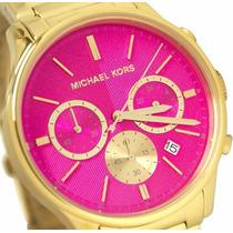 Relogio Feminino Michael Kors Mk5909 Rosa E Pink Original