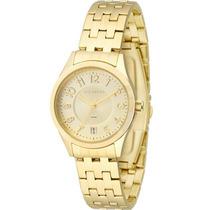 Relógio Feminino Technos Dourado Com Calendário 2115knj/4x