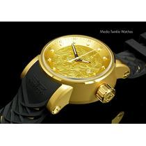 Relogio Invicta Yakuza Dragon Dourado Original Watch Novo