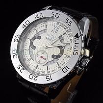Relógio Importado Winner Branco Automático Com Calendário