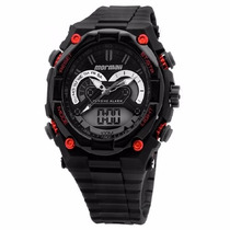 Relógio Mormaii Yp1570/8r Preto Pulseira Borracha Alarme Nfe