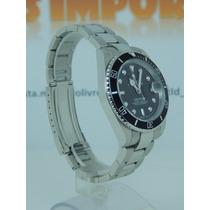 Relógio Submariner Oyster Perpetual Black Silver Prata Cores
