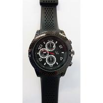 Relógio V6 V0272 De Luxo Quartz Masculino Pulseira Borracha