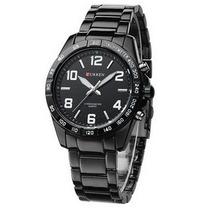 Relógio Masculino Curren Analógico Casual Branco 8107
