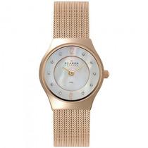 Relógio Skagen 233xsrr B2rx Feminino Dourado - Refinado