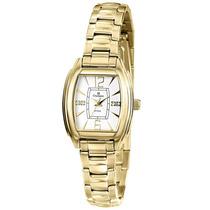 Relógio Feminino Champion Dourado Cs28076h Quadrado Pequeno