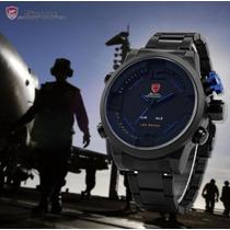 Relógio Esportivo Militar Led Shark Sh105 Original + Brinde!