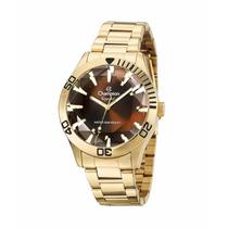 Relógio Champion Feminino Dourado Crystal Cn27214x Original
