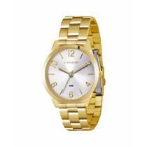 Relógio Feminino Dourado Lince Lrg4301l Garantia Orient