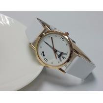 Relógio Feminino Importado Branco E Dourado Bonito E Barato
