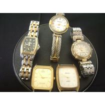 Lote De 05 Relógios De Pulso Feminino Diversas Marcas