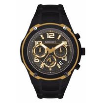 Relógio Orient Masculino Mpssc004 Dourado E Preto Grande Top