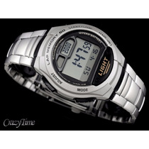 Relógio Casio Masculino 5 Alarmes Bateria 10 Anos W-734d-1av