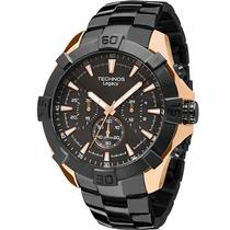 Relógio Masculino Technos Js20ai/5p 52mm Preto E Dourado