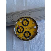 Mostrador Relógio Technos Chronograph Amarelo 28mm