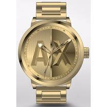 Relogio Masculino Armani Exchange Ax1363 Dourado Fretegratis