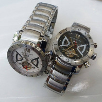 Relógio Masculino Dourado Fundo Preto