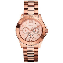 Relógio Feminino Guess 92495lpgsra4 - Ouro Rosê Original
