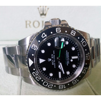Relógio Eta Gmt Master Ii Preto + Caixa, Manual, Garantia