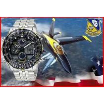 Citizen Navihawk Blue Angels Jn0040-58l 02 Anos De Garantia