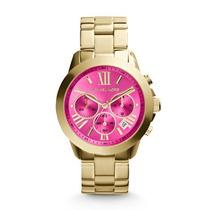 Relógio Michael Kors Mk5924 Dourado C Rosa Original