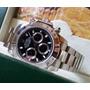 Relógio Eta Valjoux Modelo Daytona Dial Preto + Caixa Rolex