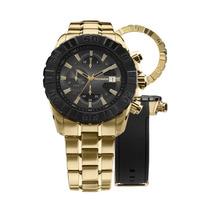 Relógio Technos Js15bd/4p - Cronógrafo Dourado 12x Sem Juros