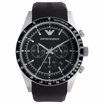 Relógio Emporio Armani Ar5985 Preto E Prata Frete Grátis.