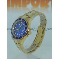 Relógio Submariner Oyster Perpetual Date Dour/azul Cerâmica