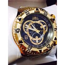 Relógio Masc. Invicta Reserve Dourado Ou Prata+.frete Grátis