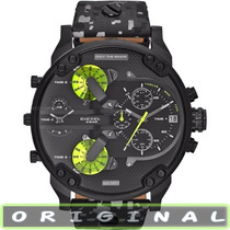 Relógio Diesel Dz7311 Preto/verde Grande Mr. Daddy 2.0 57mm!