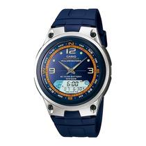 Relogio Casio Aw82 Azul Resina Função Pesca 50m Aw 82 81