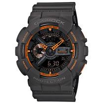 Relógio G-shock Black-laranja Ga-110ts-1a4