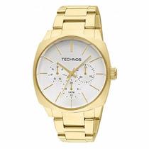 Relógio Technos Feminino 6p29jj/4k Elegance Dress Dourado