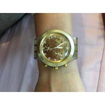 Relógio De Pulso Dourado Da Swatch